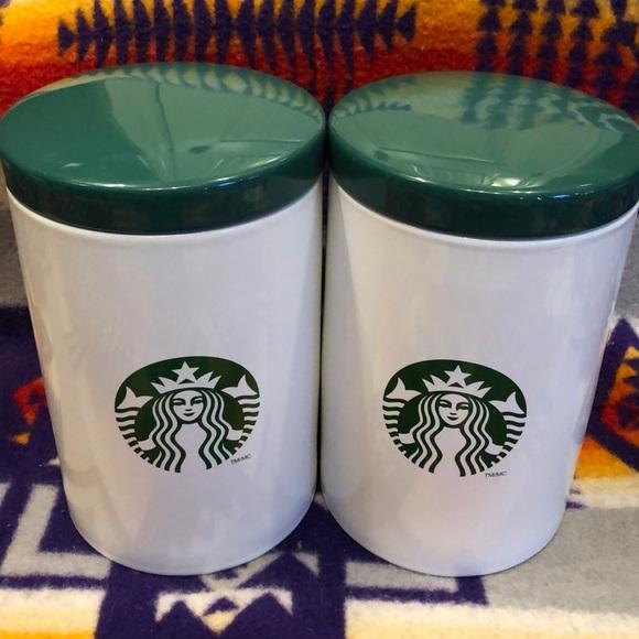 Starbucks ceramic coffee canister set